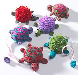 Tape Measure~Unique Cute Animal Crochet Tape Measure - Hedgehog or Tortoise~Fair Trade~TM1
